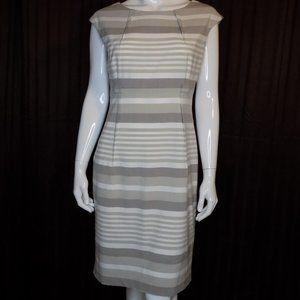 Calvin Klein Striped Sheath Career Dress Size 10